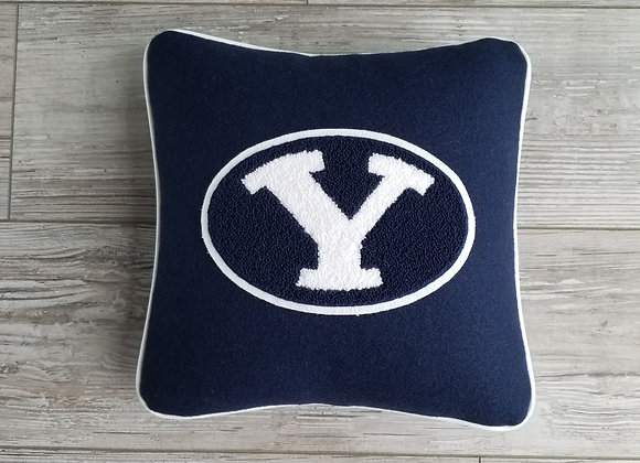 BYU Oval Y Small Letterman Pillow