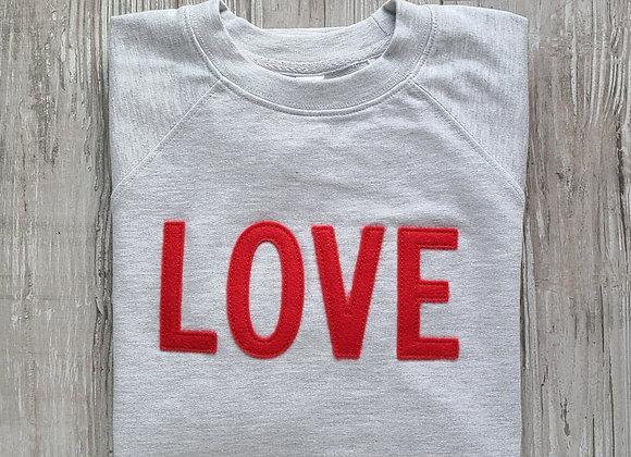 LOVE Sweatshirt Grey