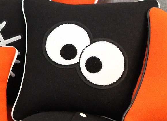 Spooky Eyes Halloween Letterman Pillow