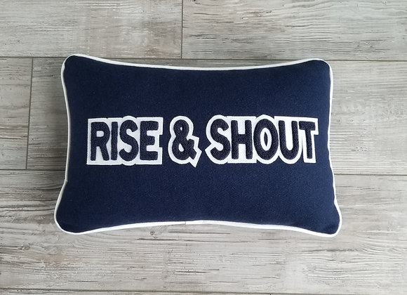 BYU RISE & SHOUT Letterman Pillow