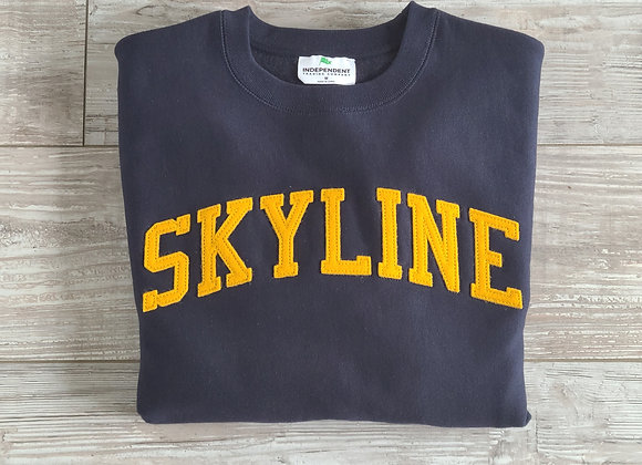 SKYLINE Letterman Sweatshirt