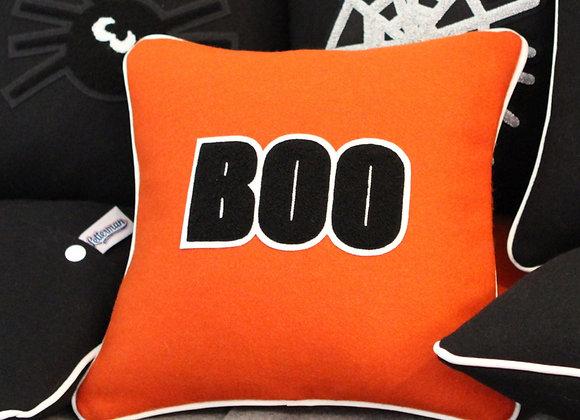 BOO Halloween Letterman Pillow