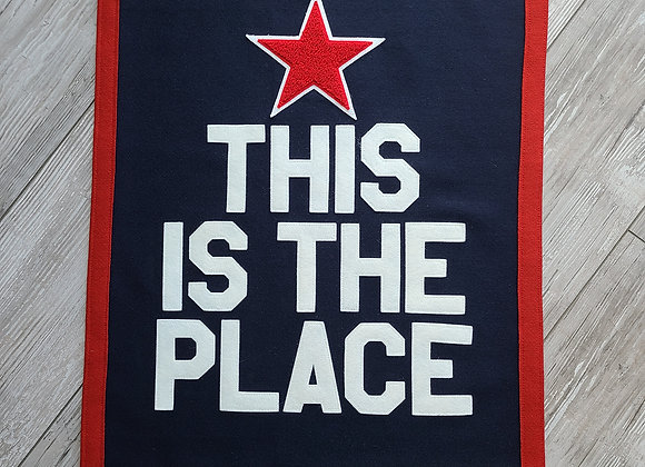 THIS IS THE PLACE Letterman Banner