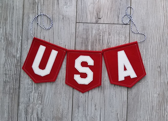 RED USA Bunting
