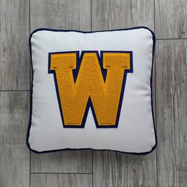 Custom Leather Letterman Pillow