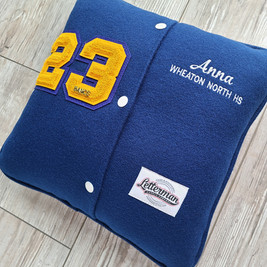 Custom Letterman Pillow