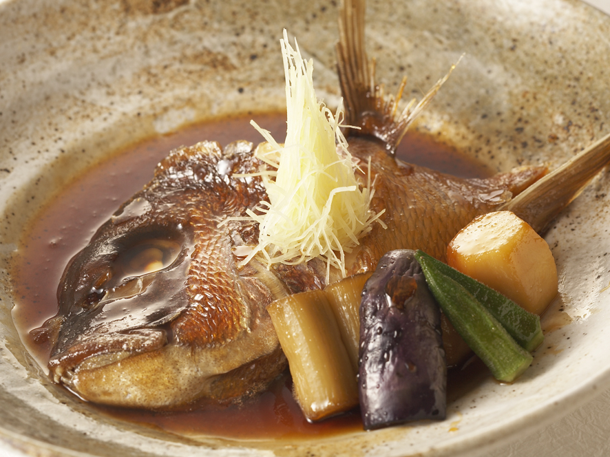 真鯛のカブト煮