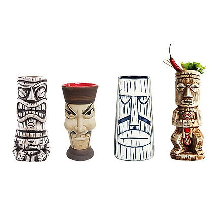 Hawaii Tiki Mugs Cocktail Ceramic Tiki Mugs