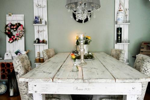 Shabby Landhaus Esstisch Nordisch Tisch Massiv ♥ Esszimmer Küche .
