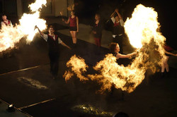 Fire Show at British Juggling Convention 2014