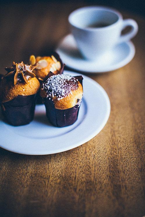 Muffin kokosowy z czekoladą