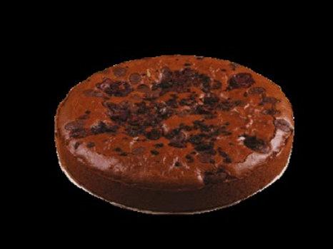 Brownie wegańskie z malinami