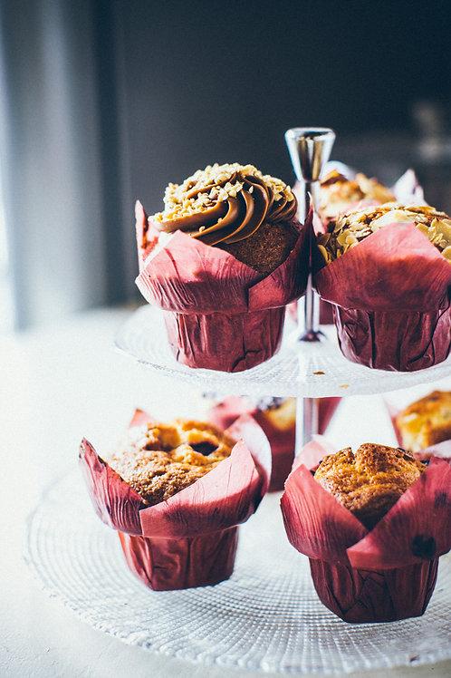 Muffin z orzechami i kajmakiem