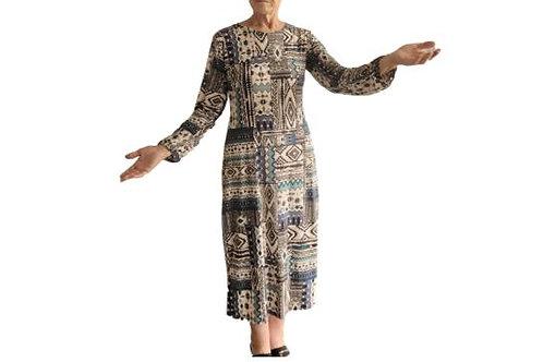 Amanda dress in soft Aztec