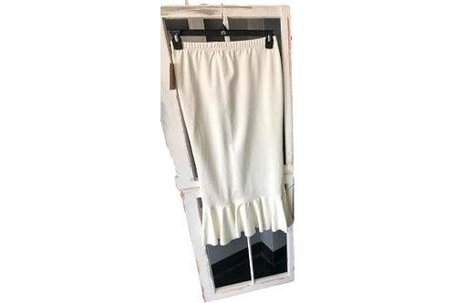 Single Ruffle Skirt in White