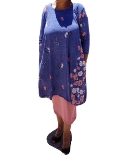 Mini Charlene in Denim Look w/Flowers