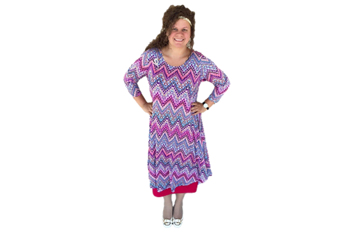 Charlene in Pink Chevron