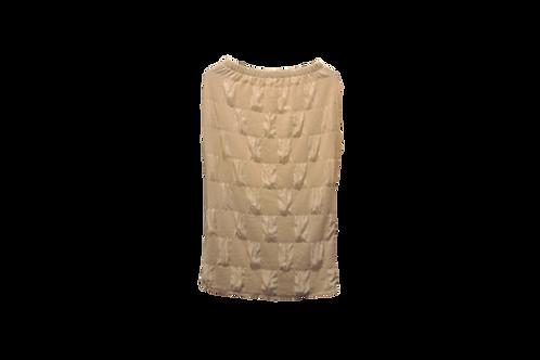 Pencil Skirt in Puffed Creamy Satin