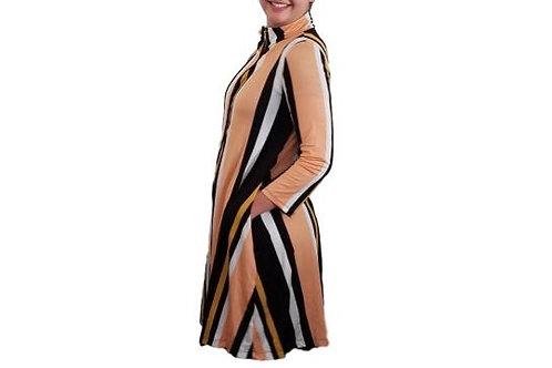 Fiona Jacket/Dress in Vertical Stripes