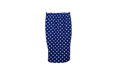 Pencil Skirt in Blue w/white P Dots
