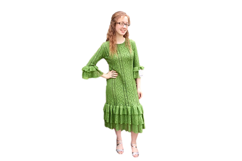Lace Mini Patty in Hunter Green