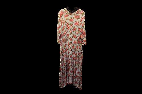Celoa Hoodie Pocket Dress n Pale Floral