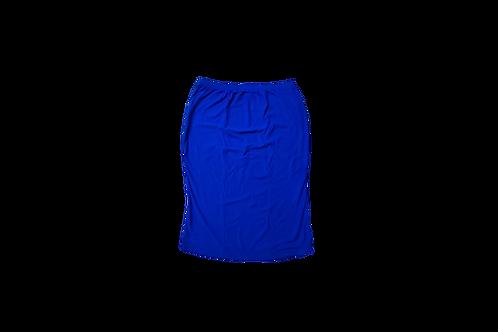 Pencil Skirt in Slinky Cobalt Blue