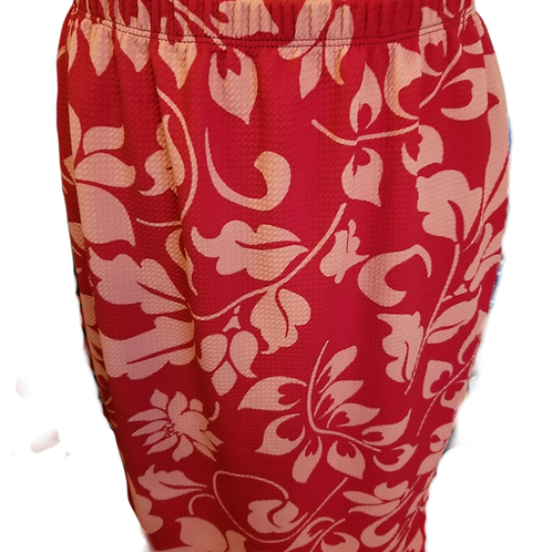 Pencil Skirt Red n Pink Hawaii