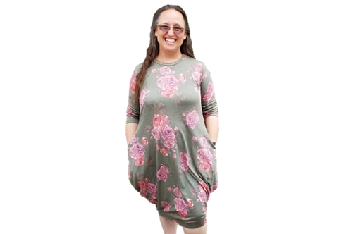 Cleona in Sage Floral