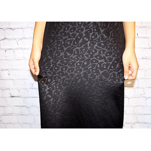 Midi Skirt Black Animal