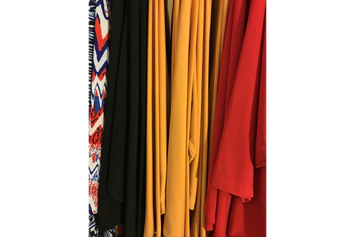 Zella Dresses in Solids MUSTARD, NAVY BLUE, BLACK and RED