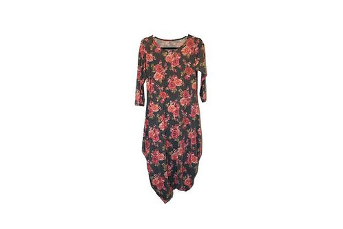Cleona Dress Gray Floral