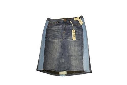 Stretch Denim Plus Size Skirt