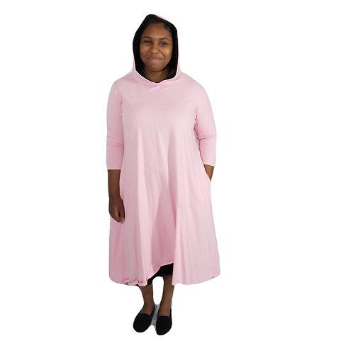 Celoa Hoodie Pink Sweatdress