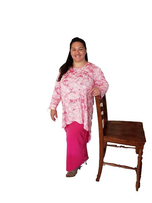 Brenda Pink Tie Dye Paisley
