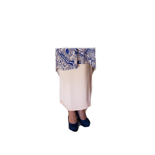Midi Skirt in Peach