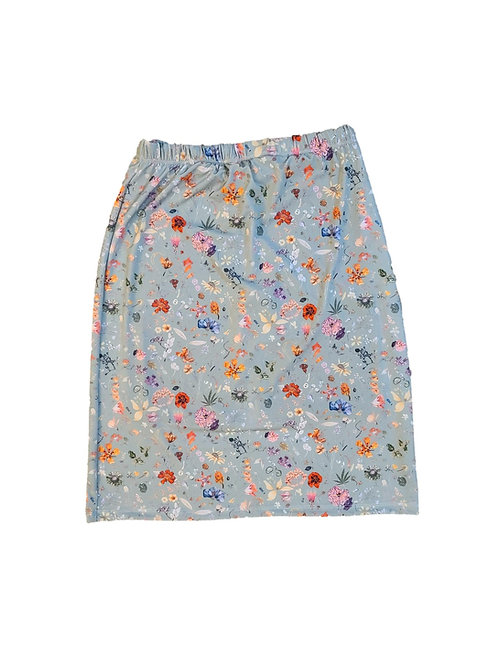 Swim/Sport Skirt Spandex Soft Sage Floral