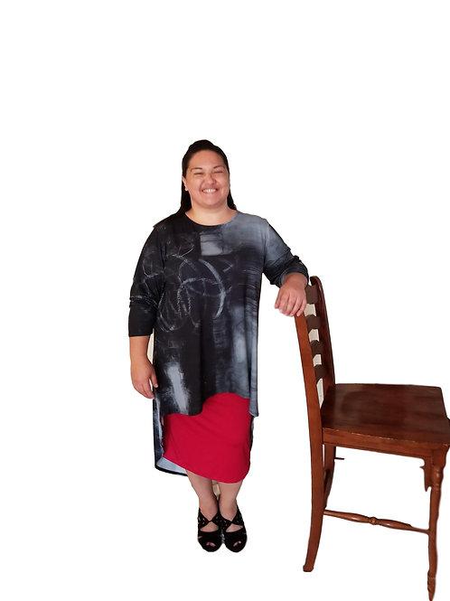 Brenda Top Distressed Charcoal