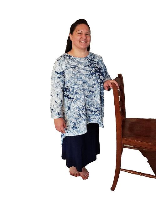 Brenda Blue Tie Dye Paisley