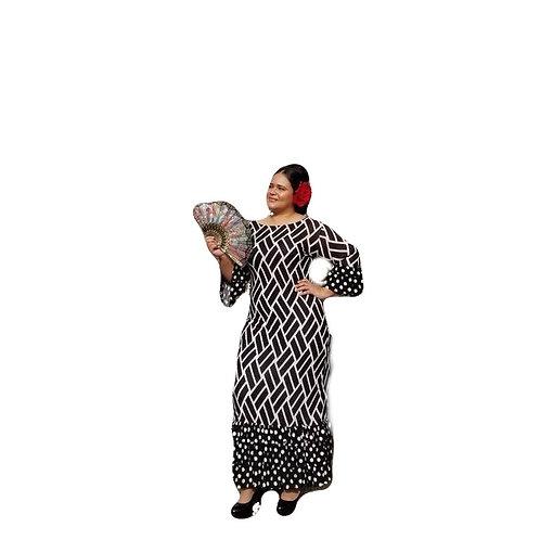 Patty Dress Blk n White w/Polka Dots