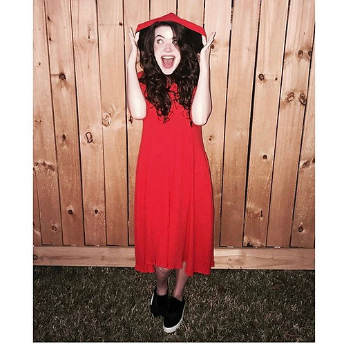 Celoa Hoodie Pocket Dress RED
