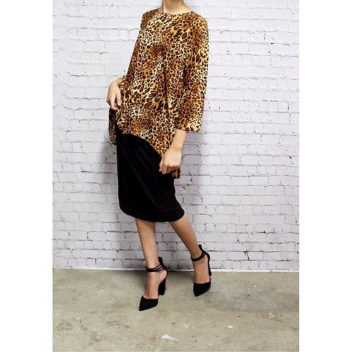 Glenna Top in Cheetah Animal Print