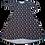 Thumbnail: Hiloa W/Pockets Black W/White Dots n Flowers