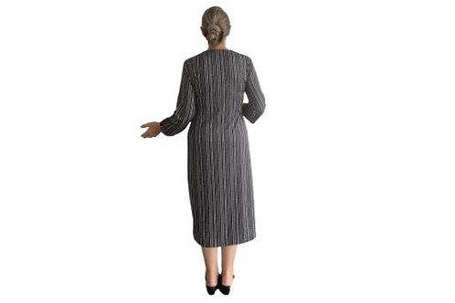 Amanda in Vertical Black n White Stripe