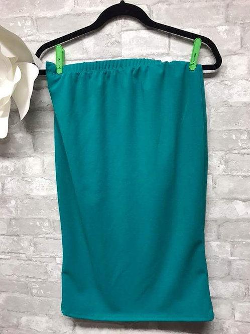 Pencil Skirt Teal Green