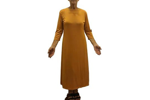Amy Dress in Deep Mustard