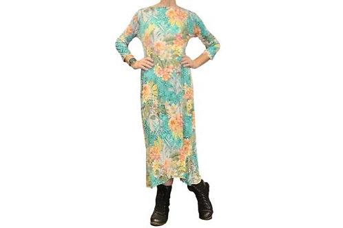 Jessica Dress in Green Tropical