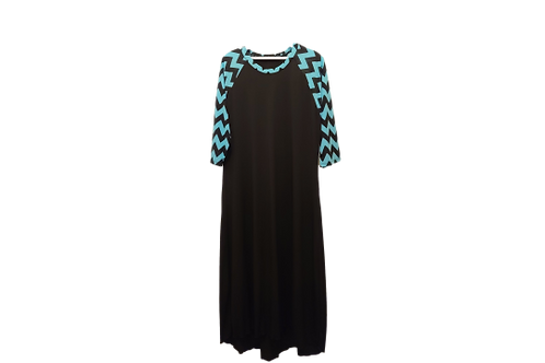 Sporty Suzy Black w/Black n LIME GREEN Chevron Sleeves