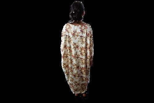 Sherri Soft Cream Floral Kimono Dress