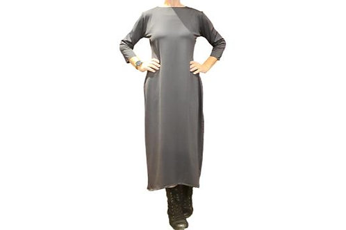 Jessica Dress in Solid Charcoal